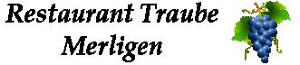 Restaurant Traube Merligen Logo